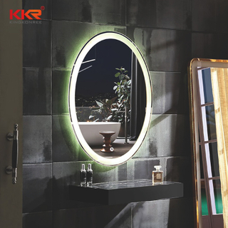 LED Ronde Solid Surface Artifiicial Stone Bathroom Vanity Mirror KKR-8012